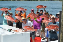 Offshore Red Snapper bottom reef fishing